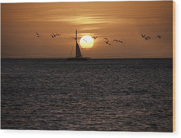 Wood Print featuring the photograph Key West Sunset by Paul Plaine