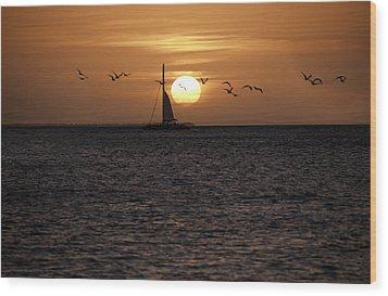 Key West Sunset Wood Print