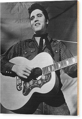 King Creole, Elvis Presley, 1958 Wood Print by Everett