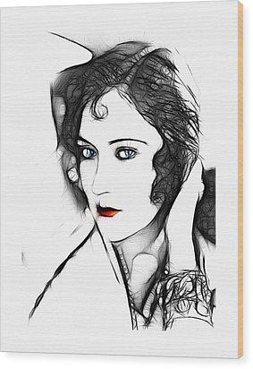 Kiss Me  Wood Print by Steve K