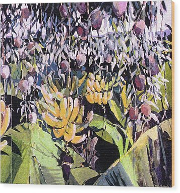 Kona Garden Wood Print