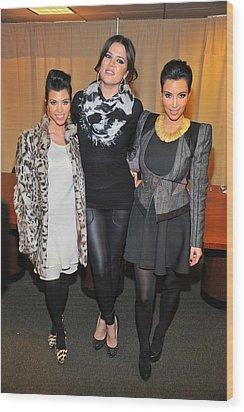 Kourtney Kardashian, Khloe Kardashian Wood Print by Everett