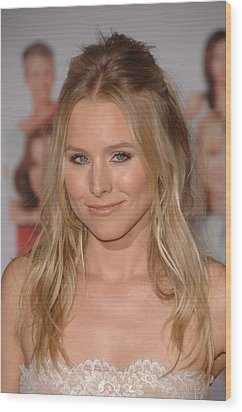 Kristen Bell At Arrivals For You Again Wood Print by Everett