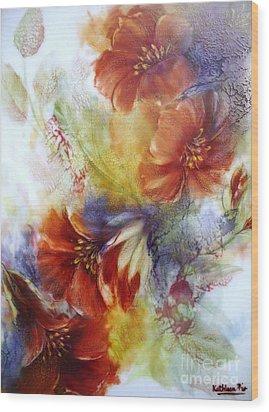 La Bignonia Rossa Wood Print by Kathleen Pio