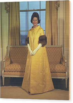 Lady Bird Johnsons Inaugural Gown. The Wood Print by Everett