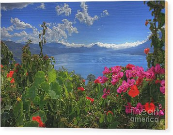 Lake Atitlan Guatemala Wood Print