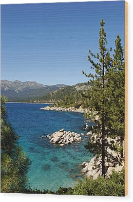 Lake Tahoe Shoreline Wood Print by Scott McGuire