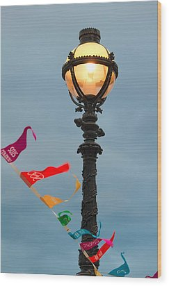 Lamp Light Wood Print by Shirley Mitchell