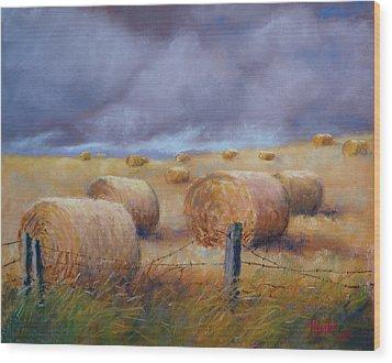 Last Crop Wood Print by Marcus Moller