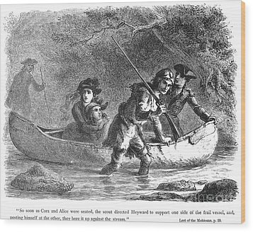 Last Of The Mohicans, 1872 Wood Print by Granger