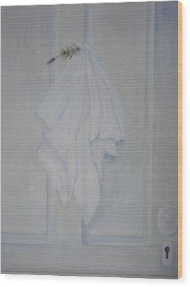 Lavender N Linen Wood Print by Siobhan Lawson