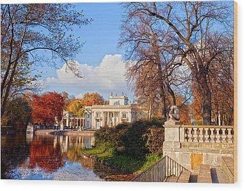 Lazienki Park In Warsaw Wood Print by Artur Bogacki