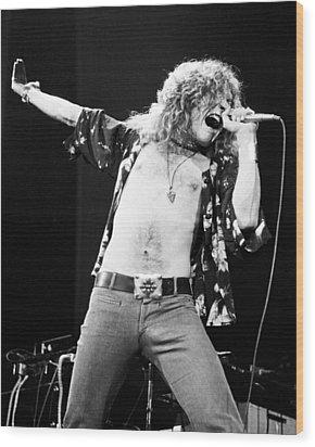 Led Zeppelin Robert Plant 1975 Wood Print