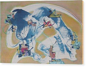 Letting Go Wood Print by Asha Carolyn Young