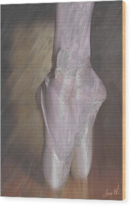 Light On Her Feet Wood Print by Lance  Kelly