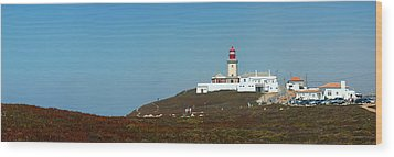 Lighthouse At Cabo Da Roca Wood Print
