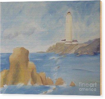 Lighthouse Wood Print by Debra Piro