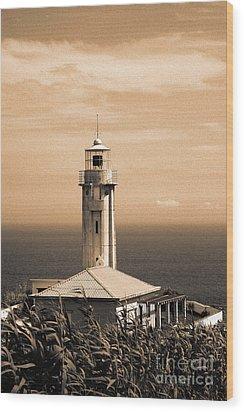 Lighthouse Wood Print by Gaspar Avila