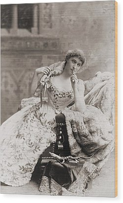 Lillie Langtry 1853-1929, English Wood Print by Everett