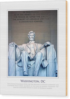 Lincoln Memorial Wood Print by Jim McDonald Photography