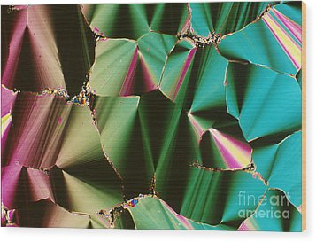 Liquid Crystalline Dna Wood Print by Michael W. Davidson