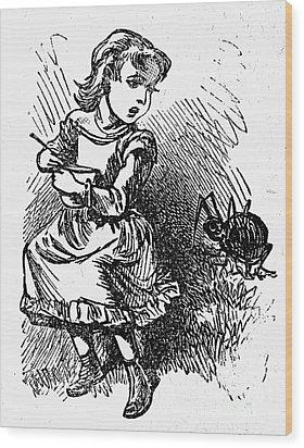 Little Miss Muffet Wood Print by Granger