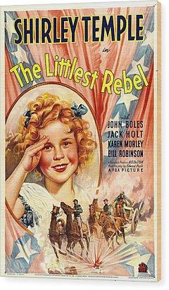 Littlest Rebel, Shirley Temple, 1935 Wood Print by Everett