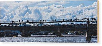 London Skyline Wood Print by Dawn OConnor