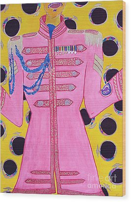 Lonely Hearts Club Member Ringo Wood Print by Barbara Nolan