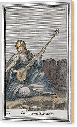 Long Lute, 1723 Wood Print by Granger