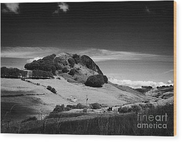Loudoun Hill East Ayrshire Scotland Uk United Kingdom Wood Print by Joe Fox