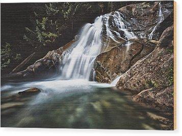 Lower Cascades Of Malachite Creek Wood Print