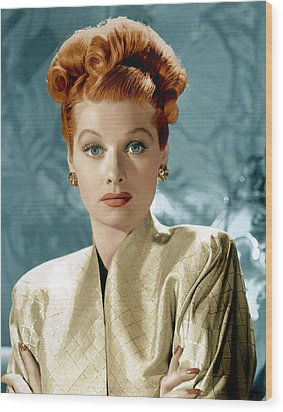 Lucille Ball, Ca. Mid-1940s Wood Print by Everett