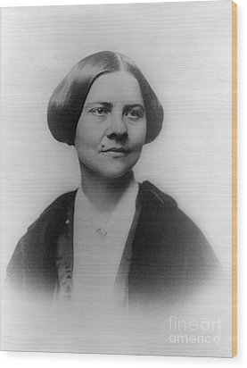 Lucy Stone, American Abolitionist Wood Print by Photo Researchers