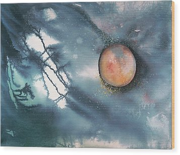 Lunar Eclipse Wood Print by Robin Samiljan