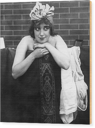 Mabel Normand, Ca. 1910s Wood Print by Everett