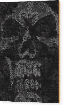 Macabre Skull Wood Print by Roseanne Jones