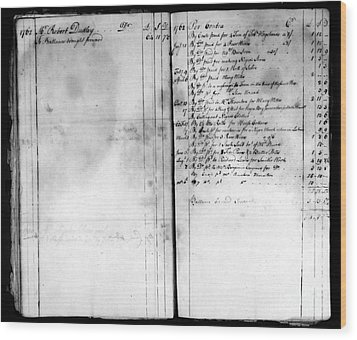 Madison: Account Book Wood Print by Granger