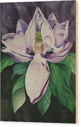 Magnolia Wood Print by Teresa Beyer