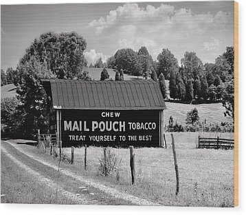 Wood Print featuring the photograph Mail Pouch Barn by Mary Almond