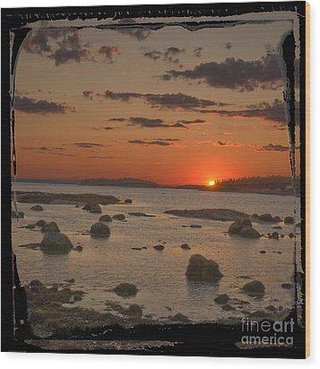 Maine Sunset Wood Print by Jim Wright