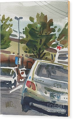 Mall Parking Wood Print by Donald Maier