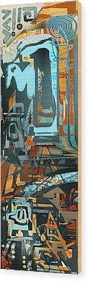 Maoi Wood Print by Anne Weirich