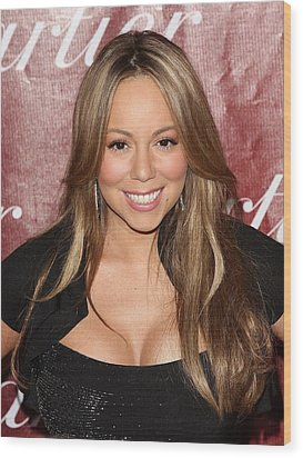 Mariah Carey At Arrivals For 21st Wood Print by Everett