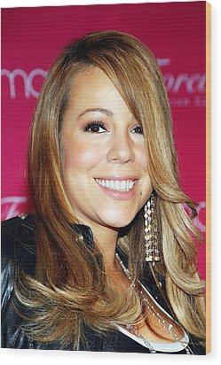 Mariah Carey In Attendance For Launch Wood Print by Everett
