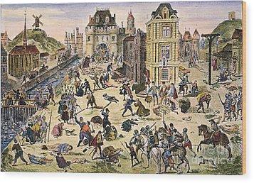 Massacre Of Huguenots Wood Print by Granger