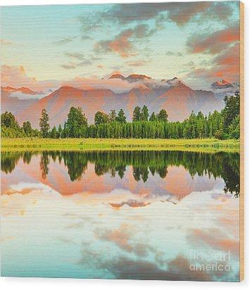 Matheson Lake Wood Print by MotHaiBaPhoto Prints