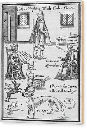 Matthew Hopkins (d. 1647) Wood Print by Granger