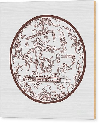 Mayan Cosmos Wood Print by Science Source