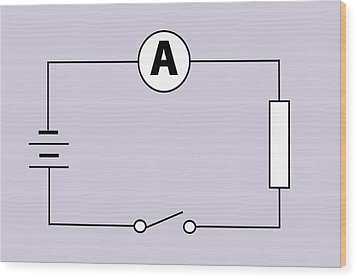 Measuring Electric Current Wood Print by Sheila Terry